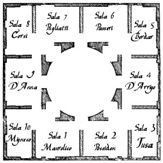 La mappa del Museo Orion
