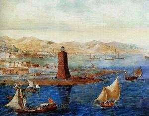 Antonino Ioli, 1760, Il porto di Messina (particolare)