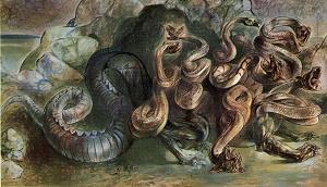 Il mostro di Scilla in un murale di Luigi Ghersi